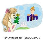 beautiful young princess... | Shutterstock .eps vector #150203978