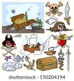 pirates vector illustrations | Shutterstock .eps vector #150204194