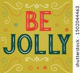 be jolly latter with retro...   Shutterstock .eps vector #1502044463
