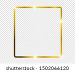 gold shiny glowing frame with... | Shutterstock .eps vector #1502066120