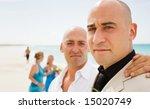 groom and one of his groomsmen  ... | Shutterstock . vector #15020749
