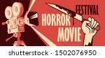 Vector Banner For Horror Movie...