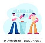 shop assistant showing... | Shutterstock .eps vector #1502077013