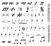 set of musical symbols  ...   Shutterstock .eps vector #1502080616