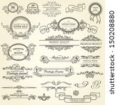 set of design elements | Shutterstock .eps vector #150208880
