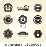 set of vintage frames  | Shutterstock .eps vector #150209033