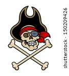 pirate skull tattoo   vector...   Shutterstock .eps vector #150209426