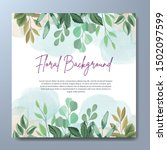 wedding invitation card with...   Shutterstock .eps vector #1502097599