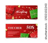 gift voucher for christmas and... | Shutterstock .eps vector #1502102243