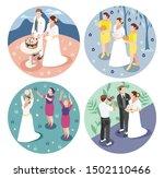 wedding 2x2 design concept with ... | Shutterstock .eps vector #1502110466