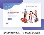 isometric street musician...