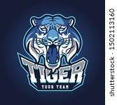 tiger sport gaming logo vector... | Shutterstock .eps vector #1502113160