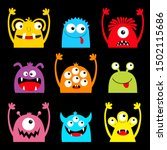 monster colorful silhouette... | Shutterstock .eps vector #1502115686