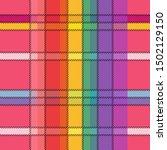 brignt madras checkered pattern....   Shutterstock .eps vector #1502129150