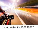car driving fast | Shutterstock . vector #150213728