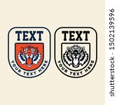 tiger retro vintage patch for... | Shutterstock .eps vector #1502139596