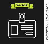 white line identification badge ... | Shutterstock .eps vector #1502140646
