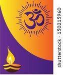 diwali greeting | Shutterstock .eps vector #150215960