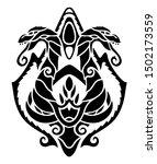 beautiful monochrome tribal... | Shutterstock .eps vector #1502173559