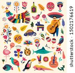 mexican collection with symbols ... | Shutterstock .eps vector #1502176619
