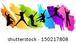 colors jumping | Shutterstock .eps vector #150217808