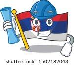 architect serbia flag flown on... | Shutterstock .eps vector #1502182043