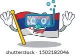 diving serbia flag flown on... | Shutterstock .eps vector #1502182046