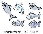 fish set   vector cartoon... | Shutterstock .eps vector #150218474