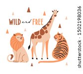 wild and free. cute exotic...   Shutterstock .eps vector #1502198036