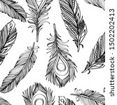 seamless pattern with black and ... | Shutterstock .eps vector #1502202413