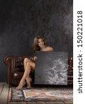 beautiful women. ceramic...   Shutterstock . vector #150221018