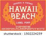 vintage label font named hawaii ... | Shutterstock .eps vector #1502224259