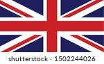 national flag of united kingdom ... | Shutterstock .eps vector #1502244026
