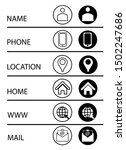 icon set web mobile email... | Shutterstock .eps vector #1502247686