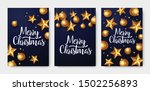christmas greeting card set.... | Shutterstock .eps vector #1502256893