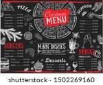 christmas menu. restaurant menu.... | Shutterstock .eps vector #1502269160