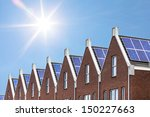 newly build houses with solar... | Shutterstock . vector #150227663