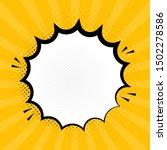 explosion steam speech bubble... | Shutterstock .eps vector #1502278586