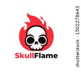 red black skull in flames with... | Shutterstock .eps vector #1502278643