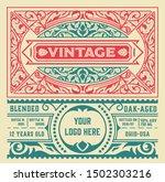 vintage liquor label template.... | Shutterstock .eps vector #1502303216