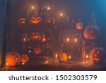 halloween decoration with... | Shutterstock . vector #1502303579