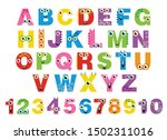 cute monsters abc alphabet and... | Shutterstock .eps vector #1502311016