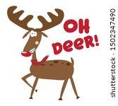 Oh Deer   Funny Christmas Text...