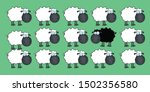 Single Black Sheep In White...
