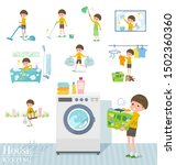a set of boy related to... | Shutterstock .eps vector #1502360360