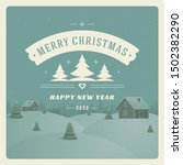 merry christmas and happy new... | Shutterstock .eps vector #1502382290