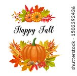 Happy Fall Card. Fall Banners...