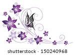 Filigree Colorful Flowers ...