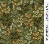 tea leaves pattern seamless... | Shutterstock .eps vector #1502431763