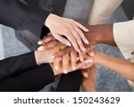 high angle view of multiracial... | Shutterstock . vector #150243629